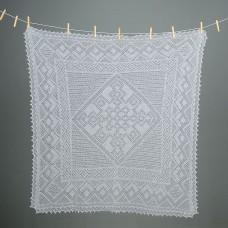 Оренбургский пуховый платок (100х100 см)