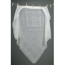 Оренбургский пуховый платок (120х120 см)