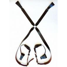 Портупея казачья плечевая четырехлучевая (коричневая)